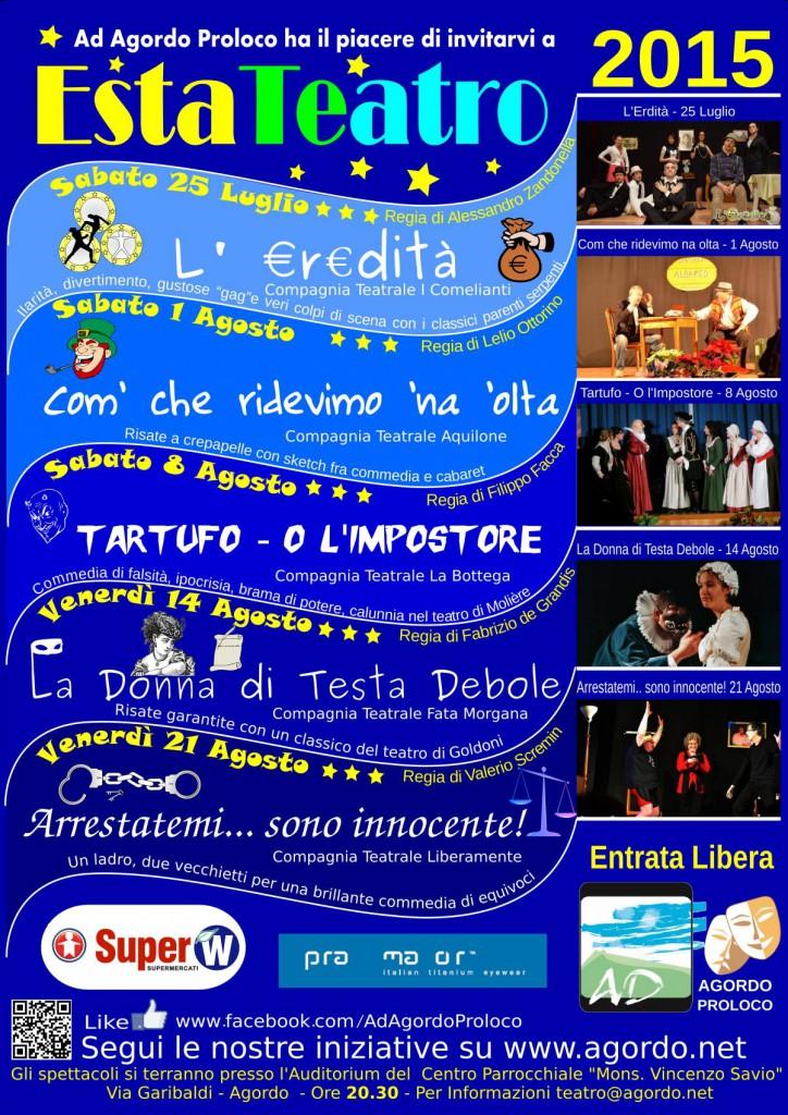 Cartellone Estateatro 2015
